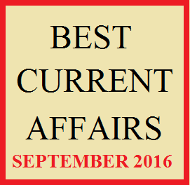 Current Affairs September 2016 Magazine